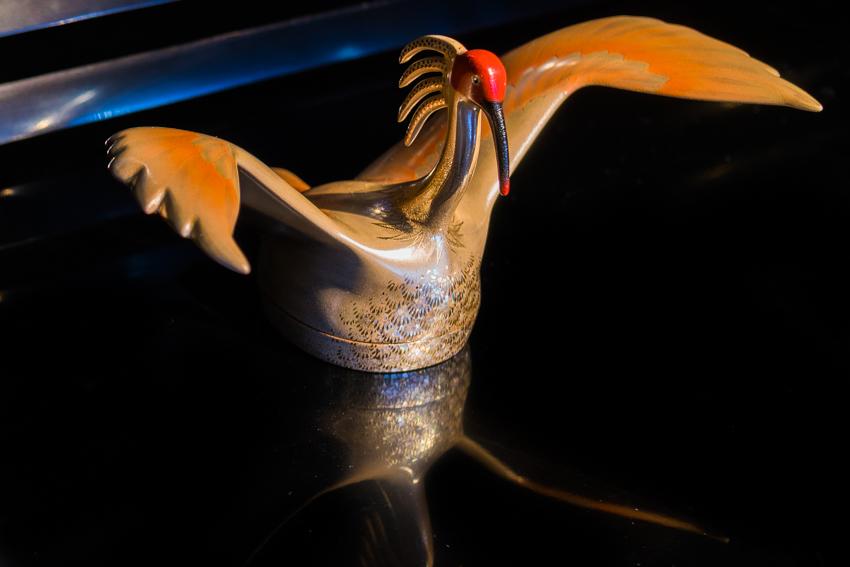 Shinshitsu crane art 芯漆 鳥 作品