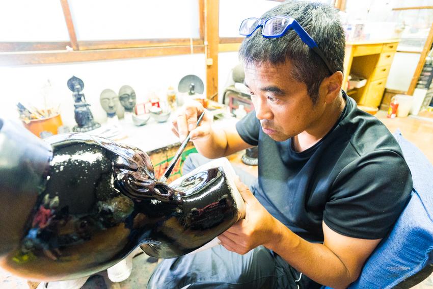 Shinshitsu lacquer artist 芯漆 山崖松堂