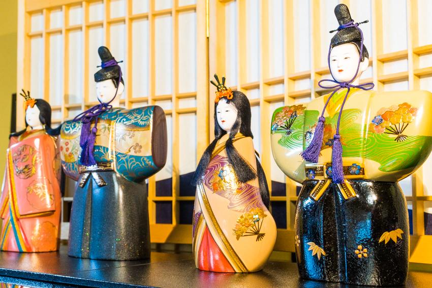 Shinshitsu lacquer art 芯漆 山崖松花堂 ひな人形 展示