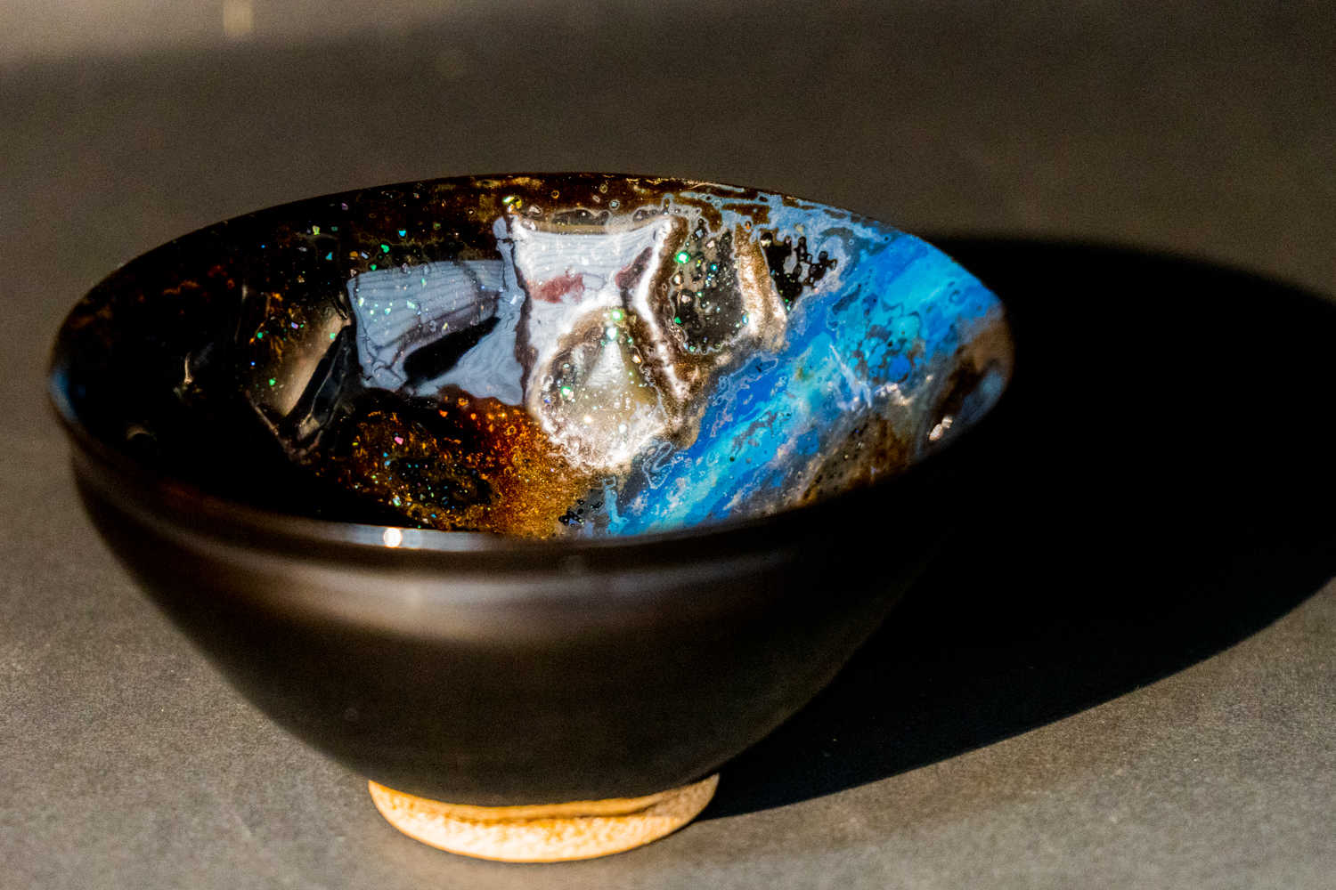 all lacquer core to surface artwork cup