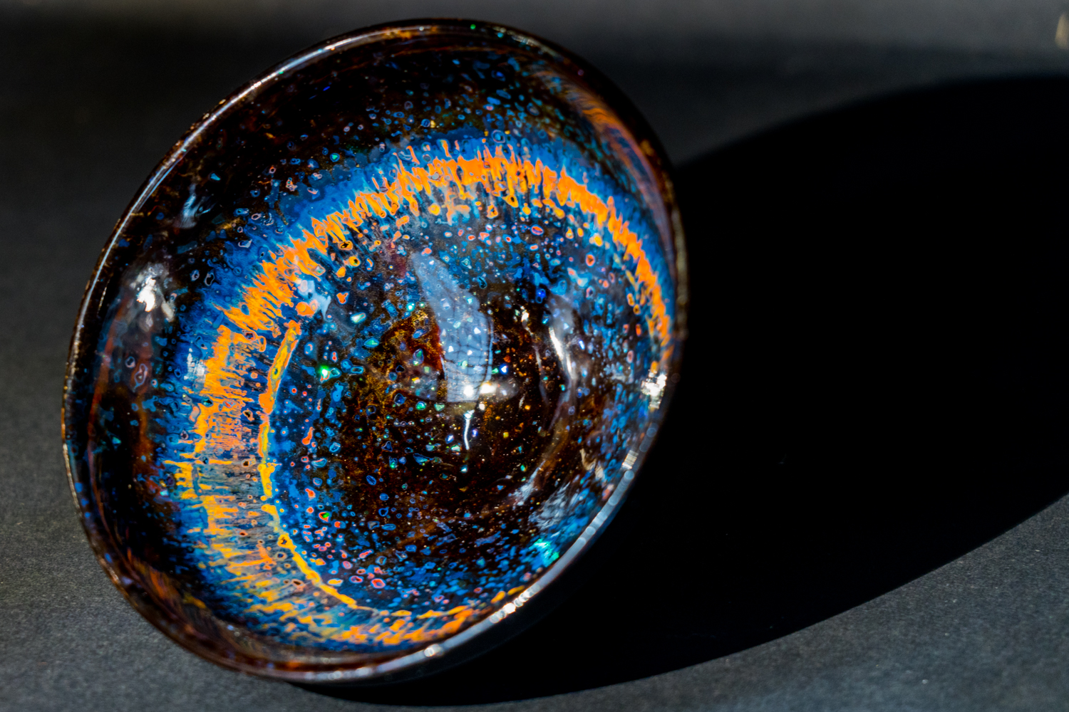 all lacquer core to surface artwork  sake cup
