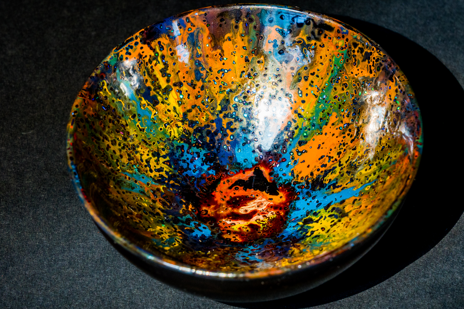 all lacquer core to surface tea bowl