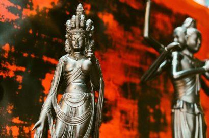 芯漆 十一面観音 lacquer statue wajima japan