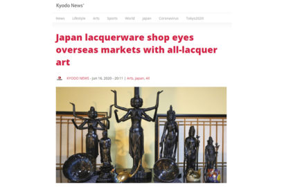 Japan lacquerware shop eyes overseas markets with all-lacquer art shinshitsu wajima ishikawa